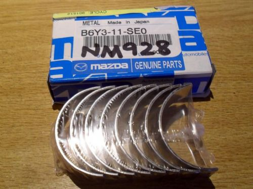 Bearings, big end, genuine Mazda MX-5 1.6 B6 & 1.8 BP, standard bearing shells, B6Y311SE0